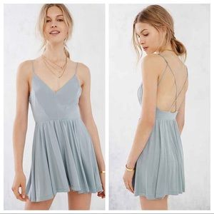 Urban Outfitters Silence & Noise Dusty Grey Romper